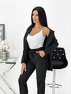 Практичный женский костюм тройка (майка, брюки, пиджак), фото 3