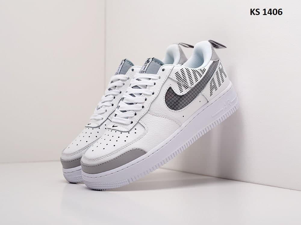 Мужские кроссовки Nike Air Force 1 Low '07 LV8 Utility (белые) KS 1406