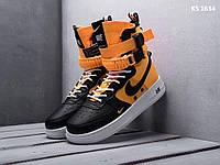 Мужские кроссовки Nike SF Air Force 1 (желтые) KS 1634 повседневные модные кроссы