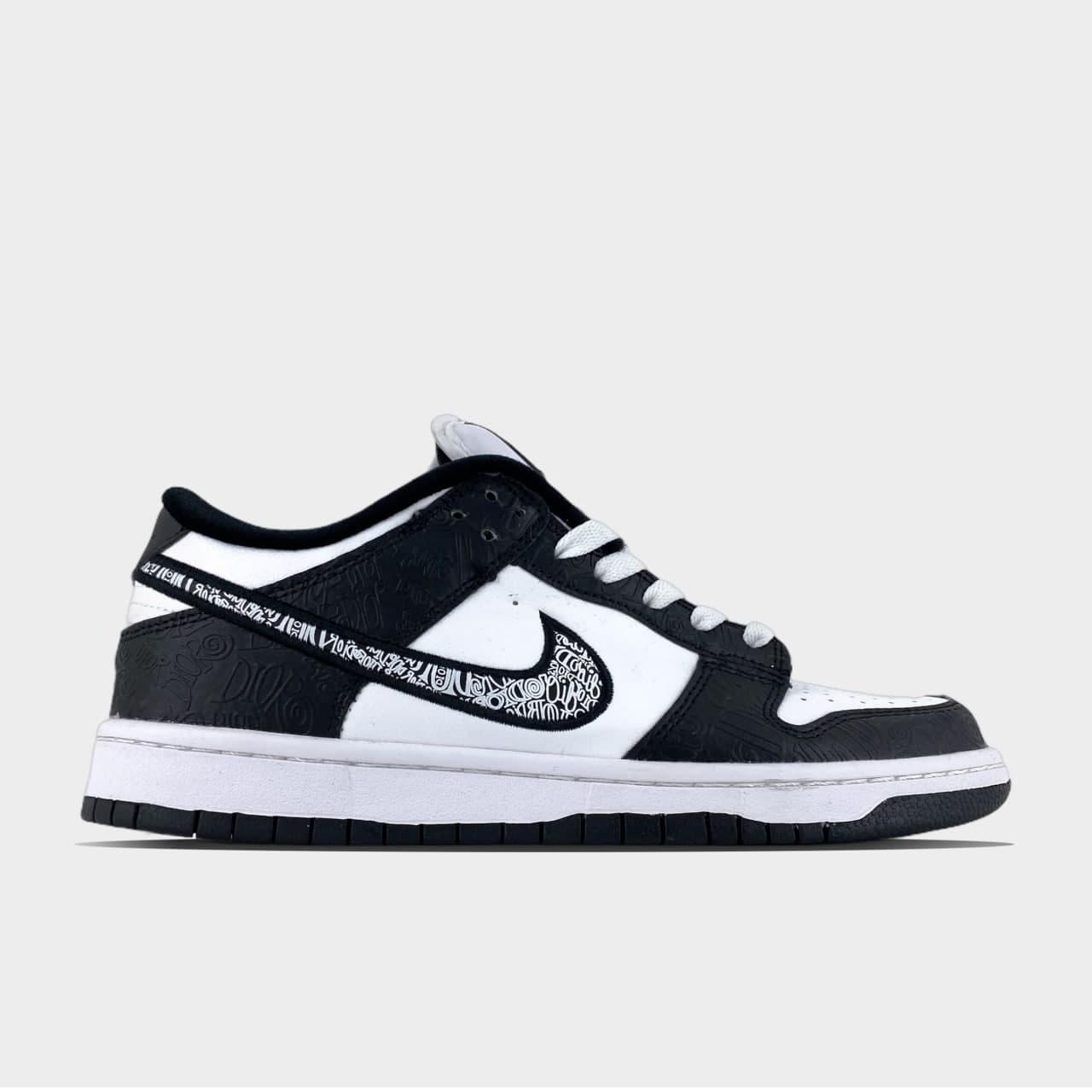 Чоловічі кросівки Nike Sb Dunk Black White (Білий) C-3426