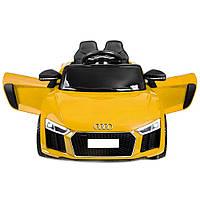 Дитячий електромобіль AUDI HL-1818 жовтий