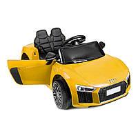Дитячий електромобіль AUDI HL-1818 жовтий, колеса EVA