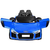 Дитячий електромобіль AUDI HL-1818 синій, колеса EVA