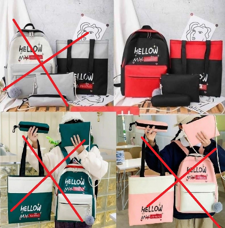 Комплект 4в1 рюкзак + сумочка + сумка + пенал 41*30 см комплект для девочки Liza