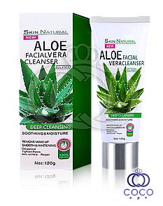Пінка для вмивання Aloe Vera Facial Cleanser з екстрактом алое і колагеном