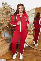 Спортивный повседневный костюм из двунитки штаны и кофта на змейке с капюшоном р: 48-50, 52-54, 56-58 арт. 001, фото 1