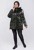 Женская демисезонная удлиненная куртка. Женская осенняя курточка.Зимняя модная куртка Р -50,52,54,56