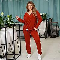 Спортивний повсякденний костюм жіночий зручний кофта з штанами двунить р: 50, 52, 54, 56, 58, 60 арт. 859, фото 1
