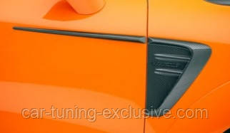 MANSORY side hatch panel with logo for Porsche Cayenne Coupe