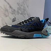 Чоловічі кросівки Off White Odsy 2000 Black Blue | Офф Вайт Одси 2000 Чорні з синім, фото 1