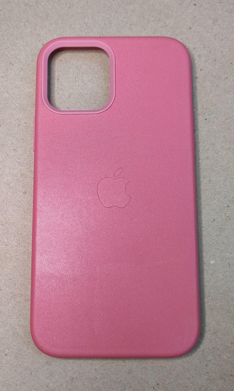 """MagSafe кожаный  чехол на iPhone 12 Mini """"Розовая гвоздика"""""""