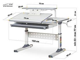 Ergokids TH-320   Дитяча зростаюча парта стіл для навчання, фото 3