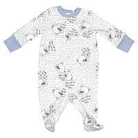 Человечек для новорожденных голубой Мишки, 56