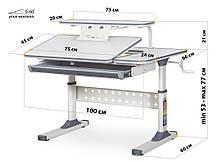 Ergokids TH-320   Зростаючий стіл для школяра, фото 3