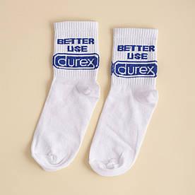 """Носки с принтом """"Better use Durex """""""