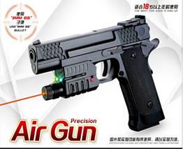 Пистолет 716-1 (144шт) свет,лазер,пульки,в коробке 18,5*14*3 см