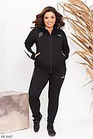 Стильний спортивний костюм з двуніткі штани і кофта на блискавці з капюшоном р: 48-50, 52-54 арт. 6370
