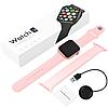 Фітнес браслет трекер Smart Watch 6 X16 Розумні смарт годинник з бездротовою зарядкою і мікрофоном Голосовий виклик, фото 6