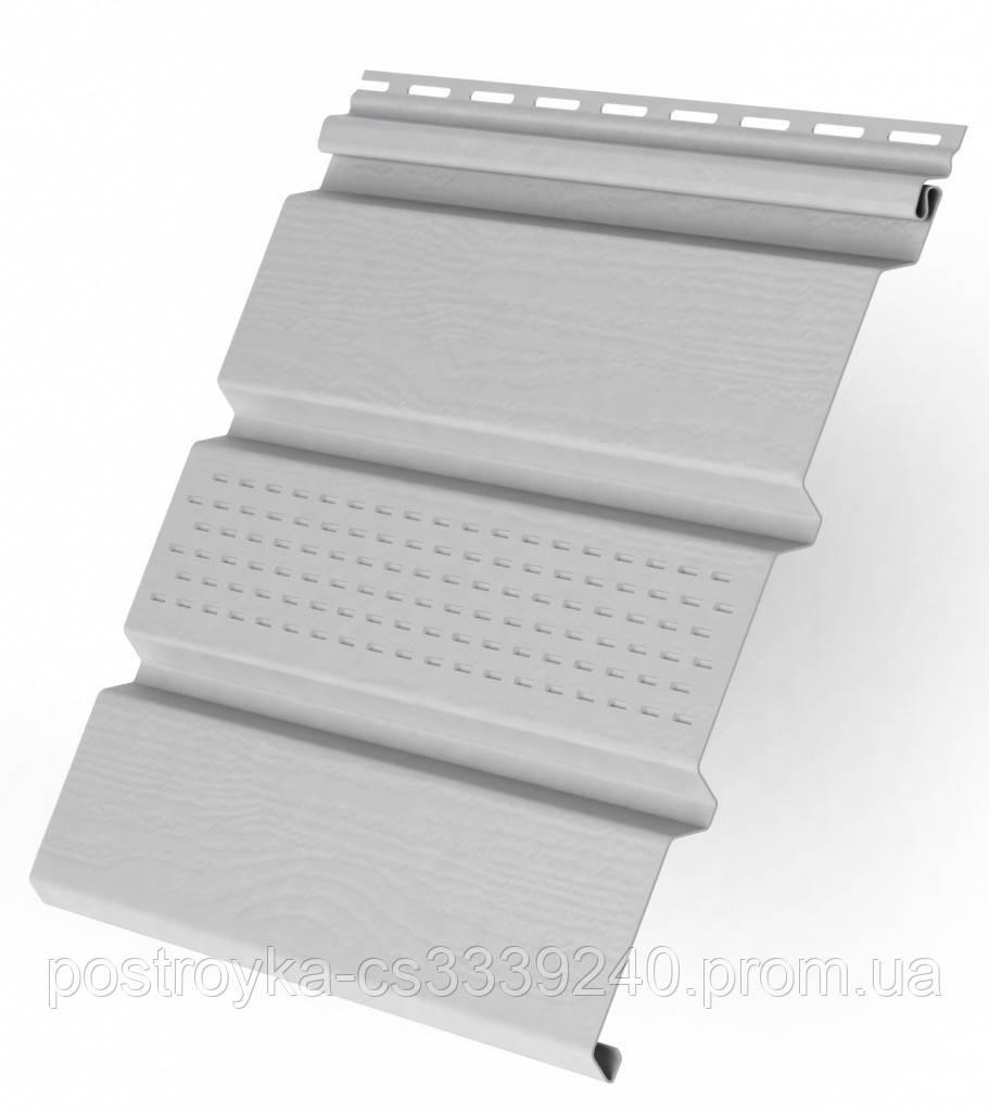 Панель софит перфорированный пластиковый Rainway/Ренвей 0,9 м2 (3м*0.3 м) Белый