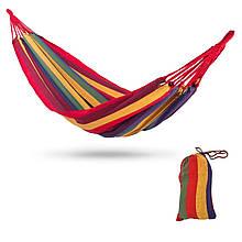 Мексиканський підвісний гамак без планки бавовняний (70см/200см) Різнобарвний