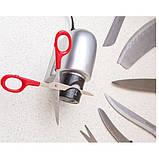 Электрическая точилка для ножей и ножниц универсальная  от сети 220В Серая, фото 2
