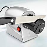 Электрическая точилка для ножей и ножниц универсальная  от сети 220В Серая, фото 4