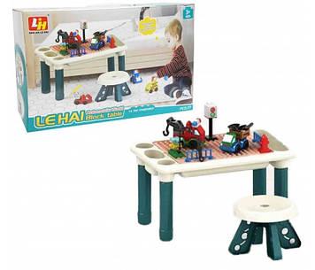 Столик игровой Игровой двухсторонний столик ребенку Столик детский для рисования и с панелью под конструктор
