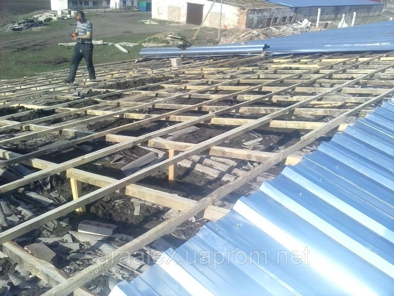 Ремонт и перекрытие крыш на зернохранилищах