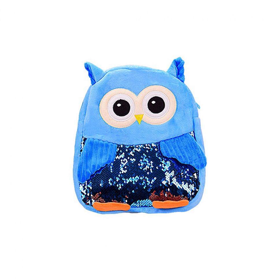 Дитячий рюкзак Сова BG8020 плюшевий (Синій)