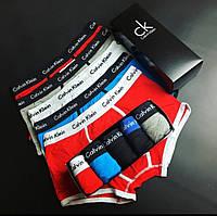 Трусы мужские боксеры Calvin Klein 365 модель 4 шт в подарочной упаковке Боксеры трусы шорты нижнее белье