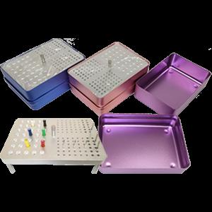 Эндобокс алюминиевый на 131 инструмент (35 эндофайли + 72FG + 24RA)
