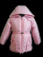 Розовая весенняя куртка для девочки. 86, 92, 98, 104, 110