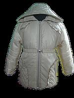 Молочная, весенняя куртка для девочки. 86, 92, 98, 104, 110