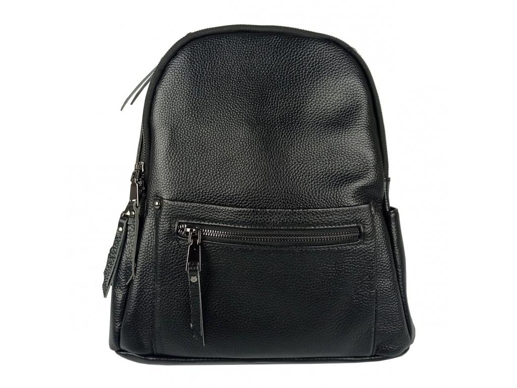 Рюкзак жіночий чорний .Жіночий рюкзак з натуральної шкіри чорного кольору.