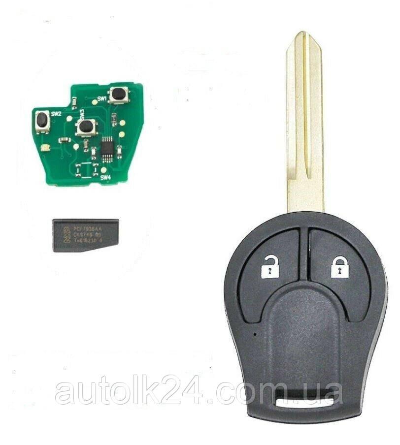 Ключ Nissan 2 кнопки 434MHz ID46