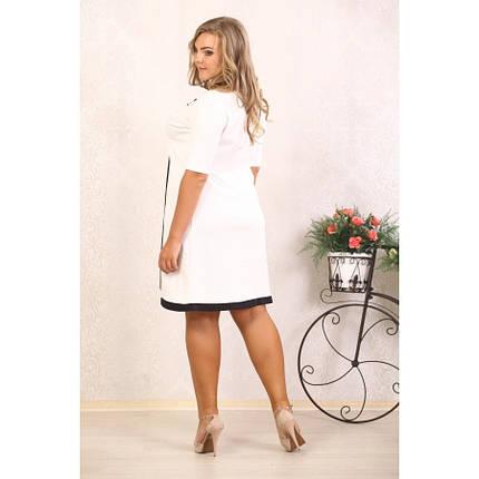 Женское платье с абстракцией Марша цвет молоко размер 48-72 / большого размера, фото 2