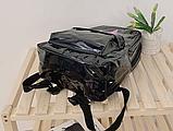Рюкзак голографічний середнього розміру з єдинорогом, фото 2