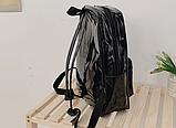 Рюкзак голографічний середнього розміру з єдинорогом, фото 3