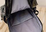 Рюкзак голографічний середнього розміру з єдинорогом, фото 4