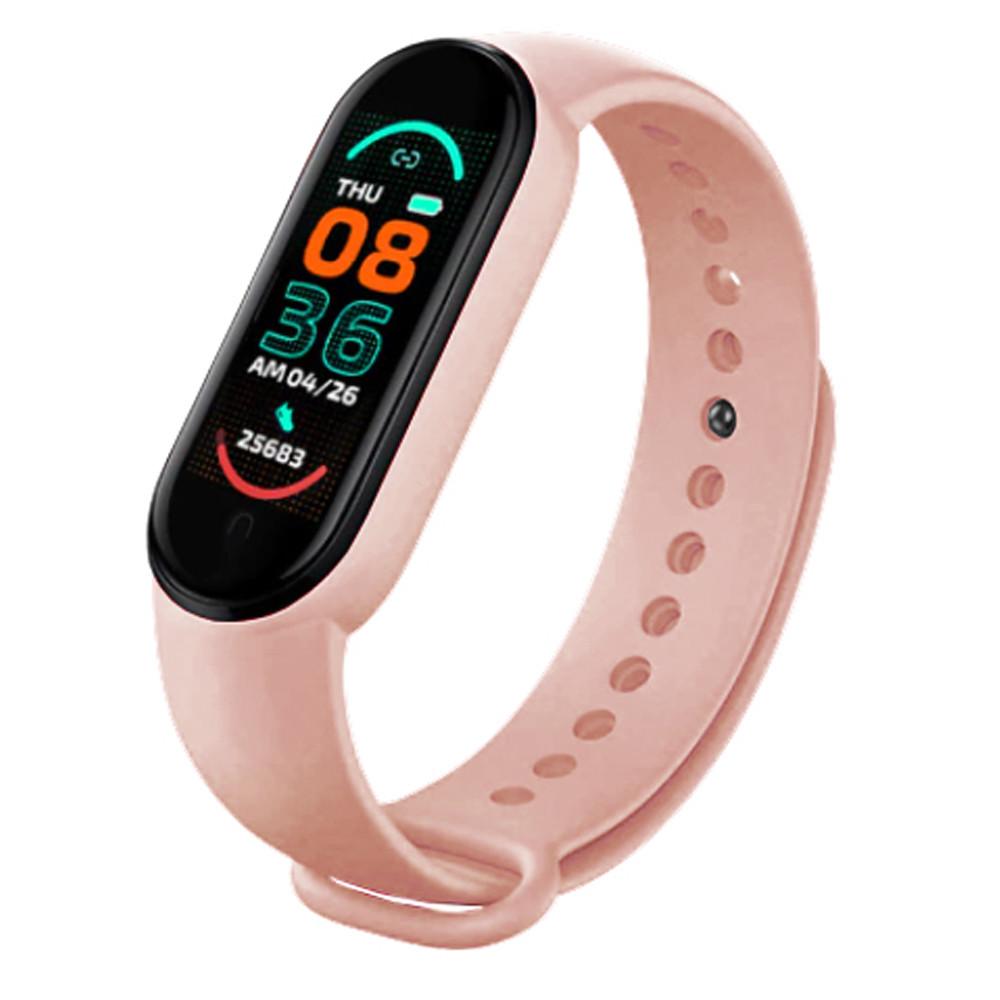 Фітнес браслет трекер Xiaomi mi band 6 Розумні спортивні смарт годинник для здоров'я з тонометром крокоміром Копія