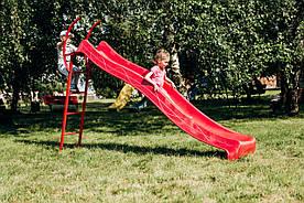 Дитяча гірка з металевою драбиною 3 м Червона (hub_epPs64301)