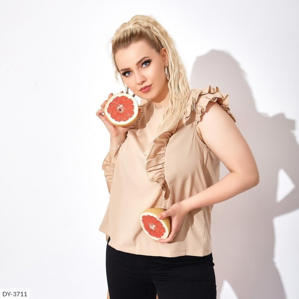 Блуза с рюшами (Батал)