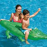 Надувной плот Intex 58546 Крокодил 168х86 см Зеленый, фото 2