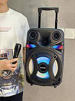 Колонка KIMISO QS-4811 BT (с проводным микрофоном) (8' BASS/1200 W)