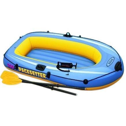 Полутораместная Intex надувний човен 58347 Pacesetter 200 Set, 196 х 102 х 33 см, з веслами і насосом