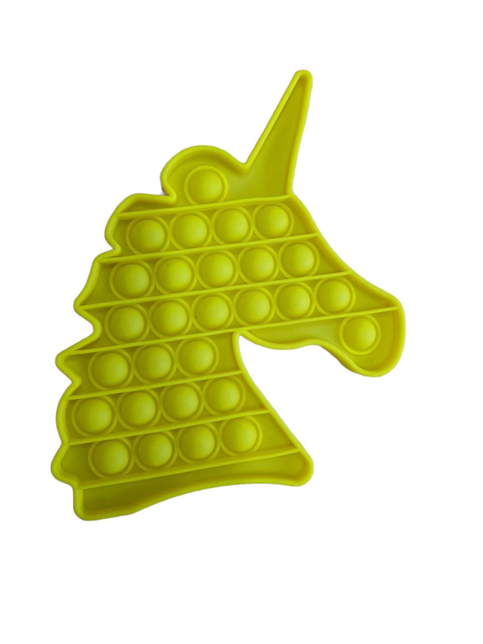 Pop It сенсорна іграшка, пупырка, поп іт антистрес, pop it fidget, попит, жовтий єдиноріг