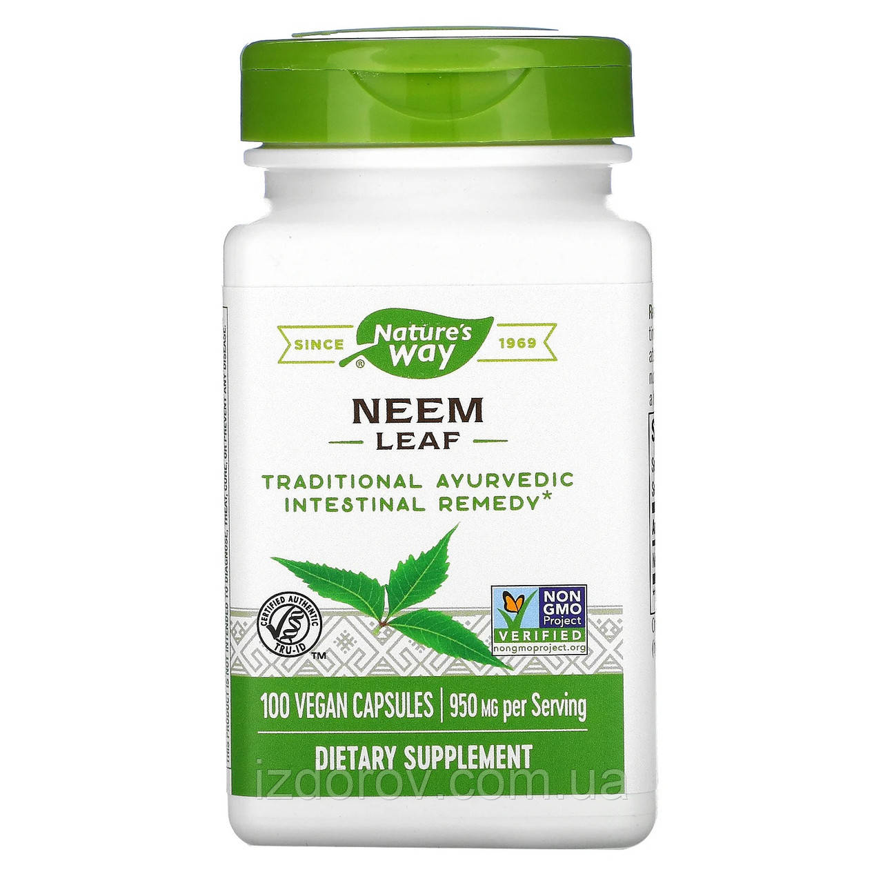 Nature's Way, Лист Німа, 950 мг, Neem Leaf, 100 капсул вегетаріанських
