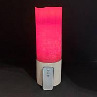 Свеча электронная Venus 20 red с подставкой
