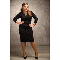 Женское платье с вышивкой Одри размер 48-72 / большого размера