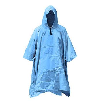 Дощовик намет-пончо Campleader 610 Blue захисний плащ водозахисний